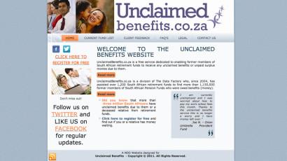 Unclaimed benefits Website