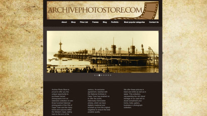 Archive Photo Store Website