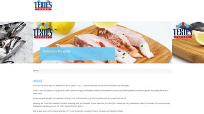 Texie's Seafoods Website