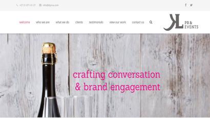 KL PR & Events website