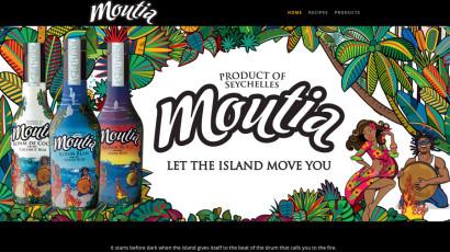 Moutia rum website